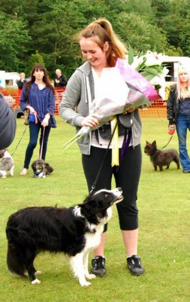 Sasha wins Best Second Chance Dog 2015 xx.