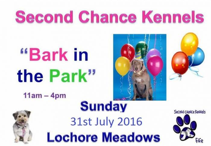 Bark in the Park Sunday 31st July 2016